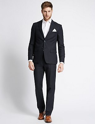 Linen Miracle Tailored Fit Jacket, NAVY, catlanding