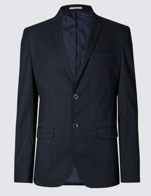 Текстурный пиджак Modern Slim с 2 пуговицами и добавлением хлопка Limited Edition T193756Q