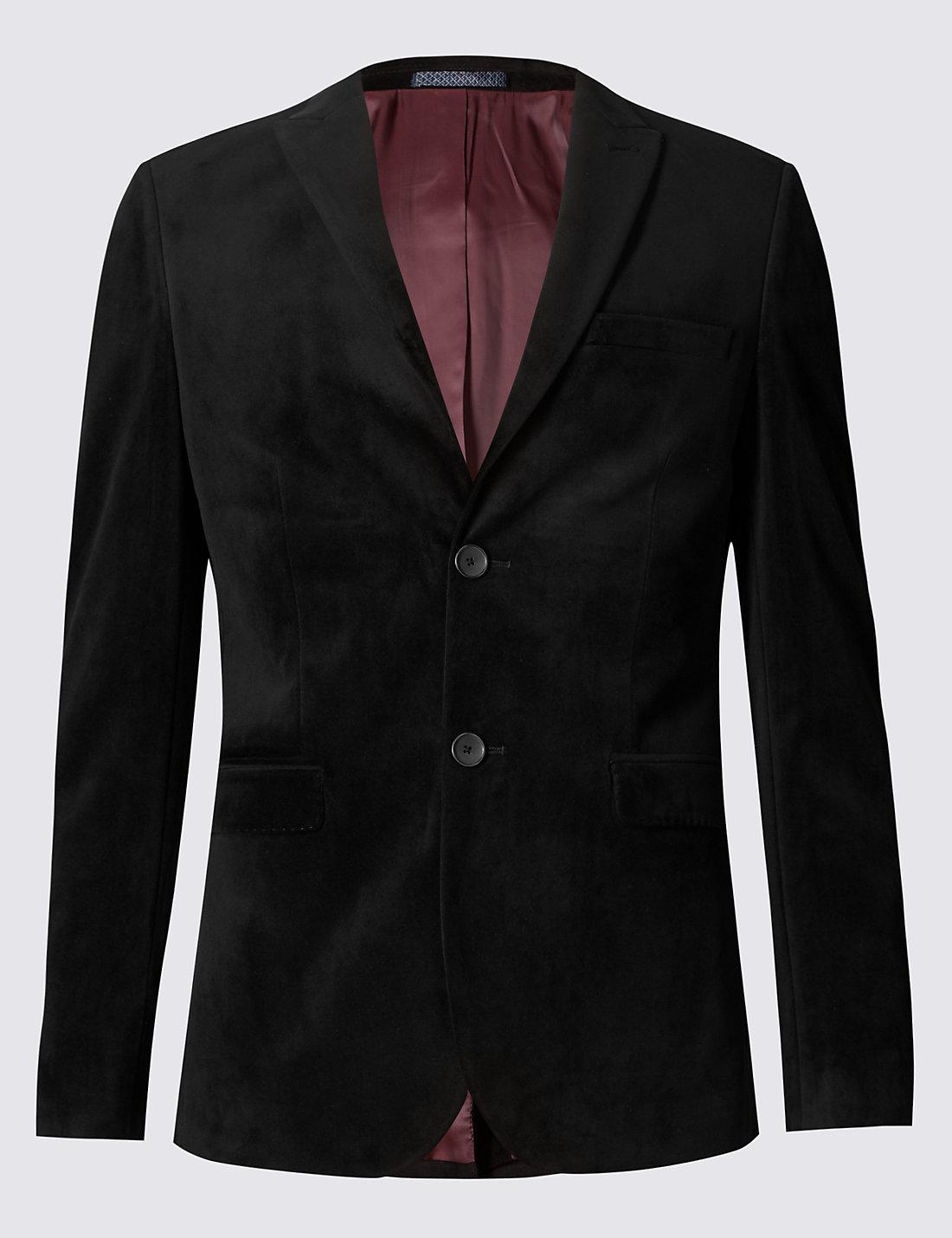 Mens jacket marks and spencer - Slim Fit Single Breasted Velvet Jacket