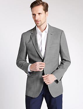 Big & Tall Textured Single Breasted Jacket, NEUTRAL, catlanding