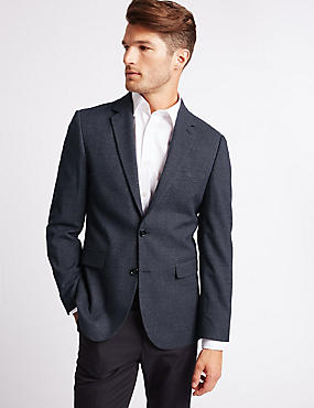 Tailored Fit Jacket, MEDIUM NAVY, catlanding