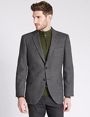 Pure Cashmere 2 Button Jacket, CHARCOAL, catlanding