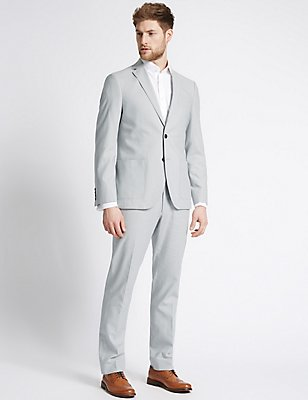 Linen Rich Tailored Fit Jacket, , catlanding