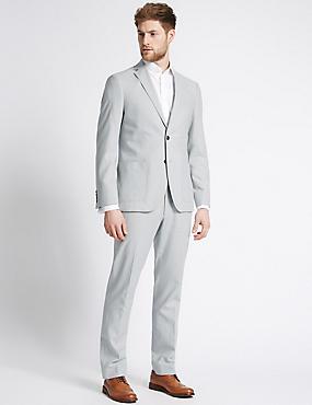 Linen Rich Tailored Fit Jacket, LIGHT GREY, catlanding