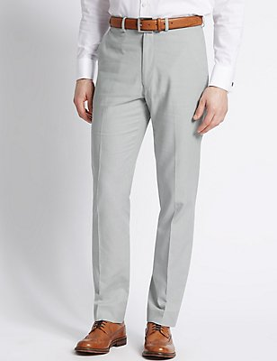 Linen Rich Tailored Fit Trouser, , catlanding