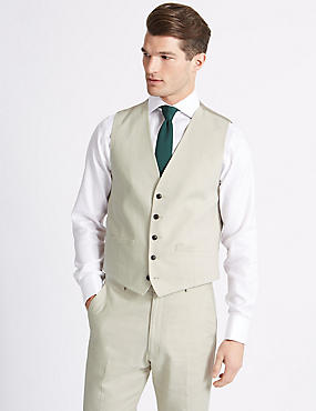 Regular Fit Waistcoat, NEUTRAL, catlanding