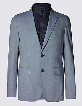 Pure Cotton Tailored Fit 2 Button Commuter Jacket