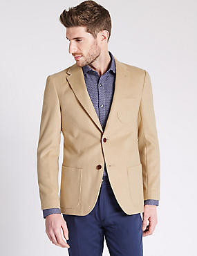 Single Breasted Jacket with Cashmere, CAMEL, catlanding