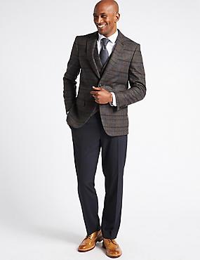 Wool Rich 2 Button Jacket, CHARCOAL MIX, catlanding