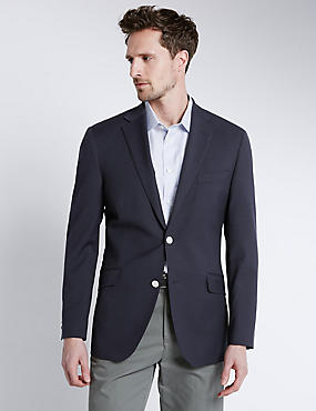 Big & Tall Performance Wool Blend Blazer, NAVY, catlanding