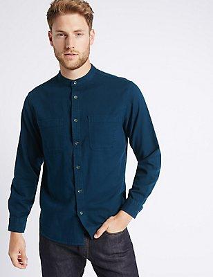 Hemd aus reiner Baumwolle mit Taschen, MARINEBLAU, catlanding
