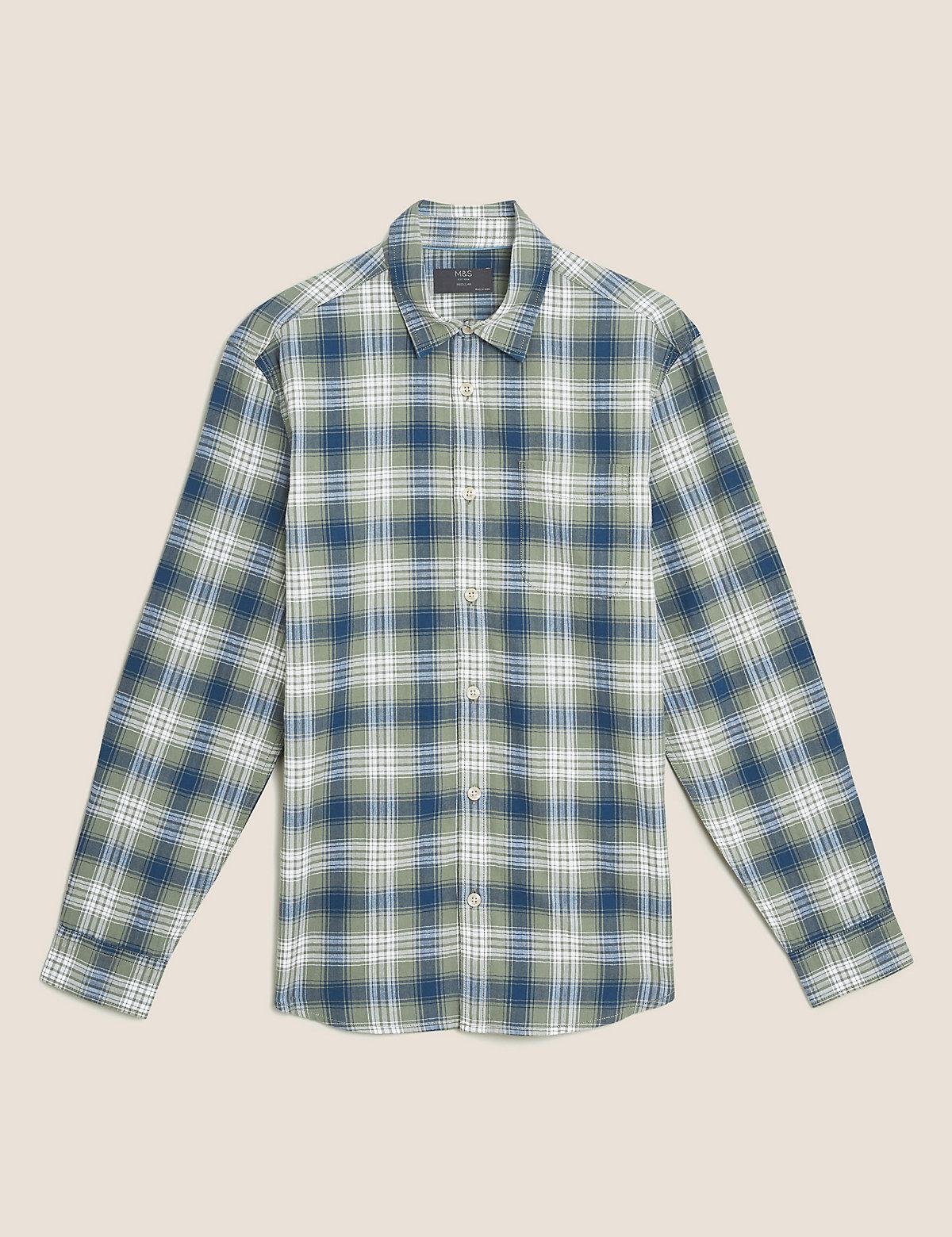 Рубашка в клетку из чистого  хлопка