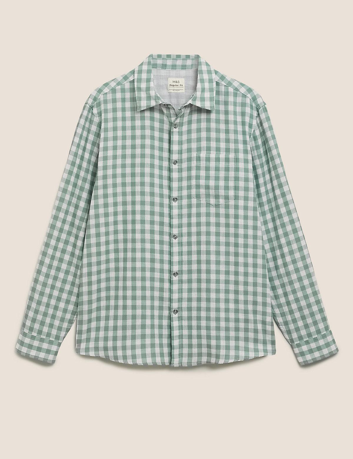 Хлопковая рубашка Overshirt в клетку