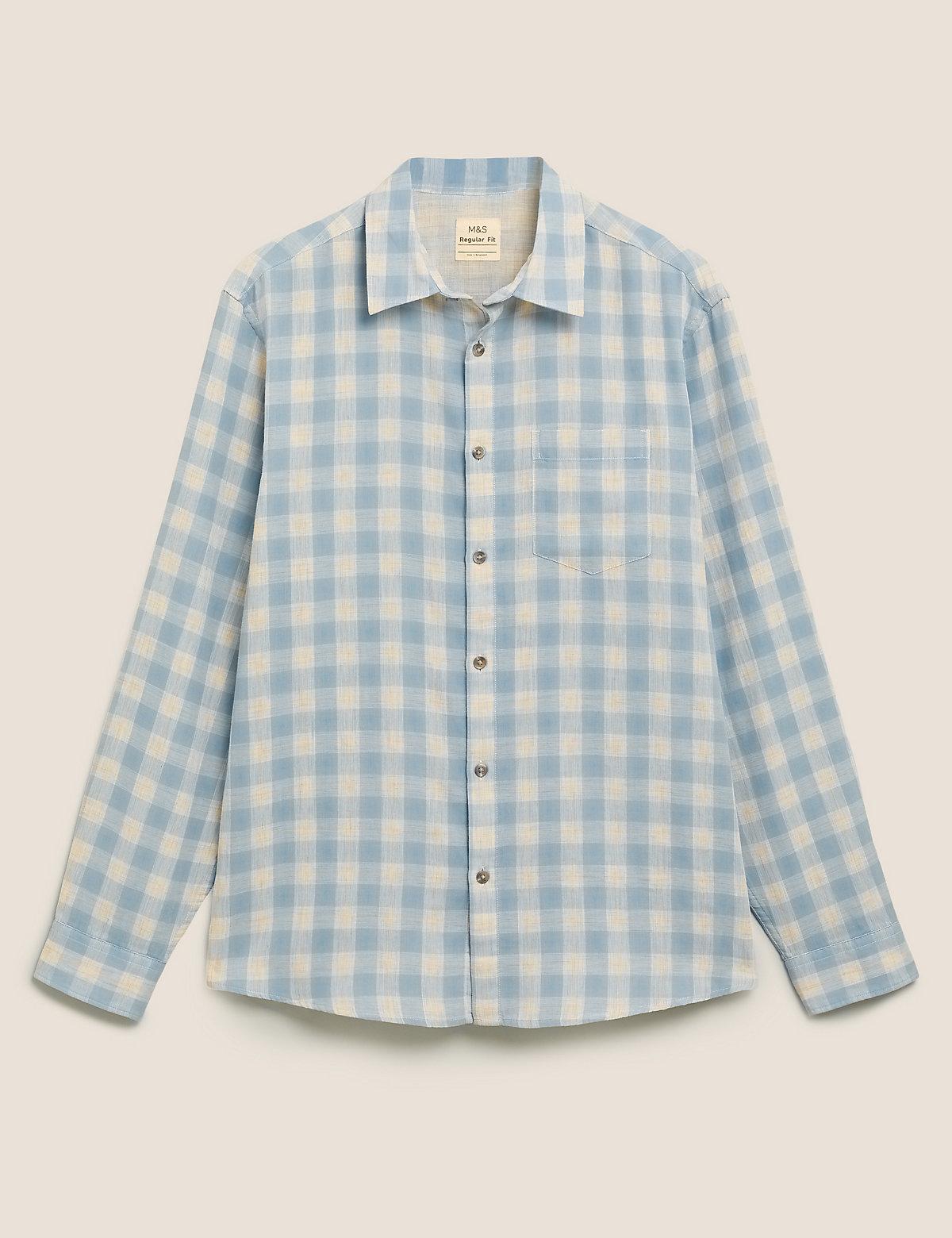Рубашка Overshirt из чистого хлопка в клетку