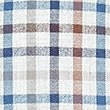 Pure Cotton Checked Shirt with Pocket, BROWN MIX, swatch