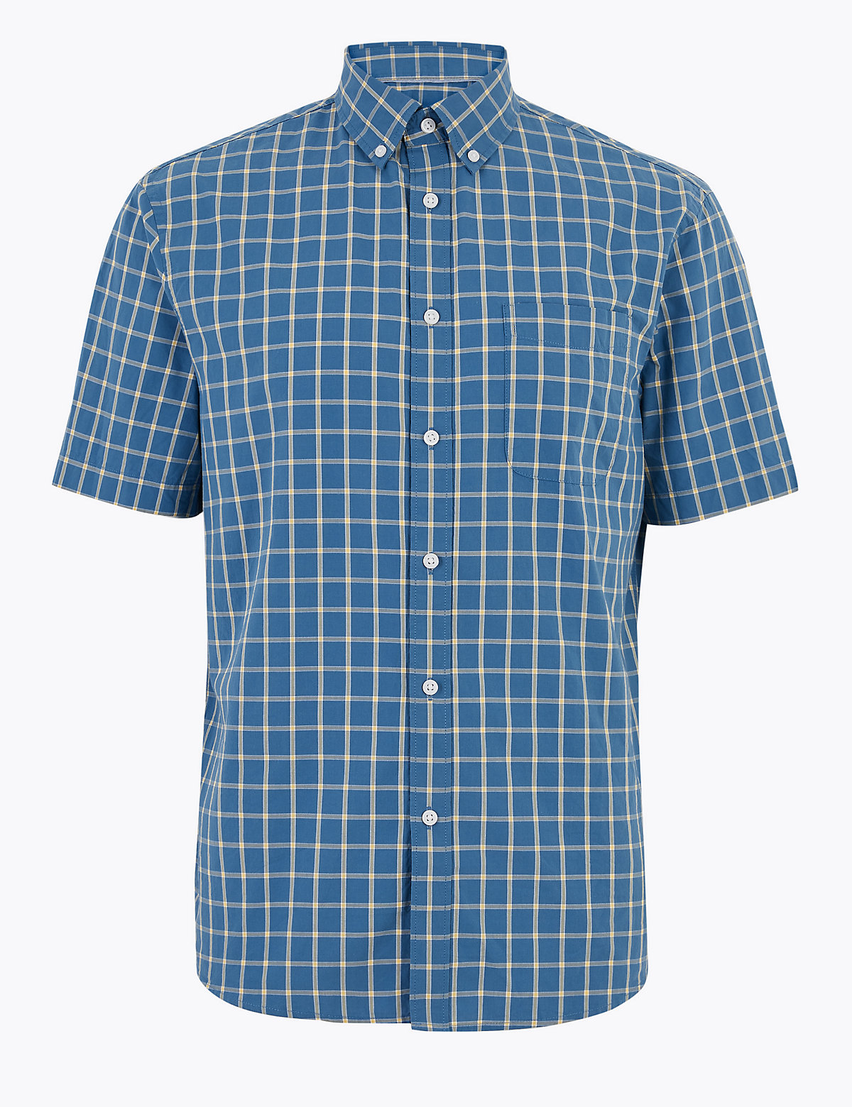 Хлопчатобумажная рубашка в клетку