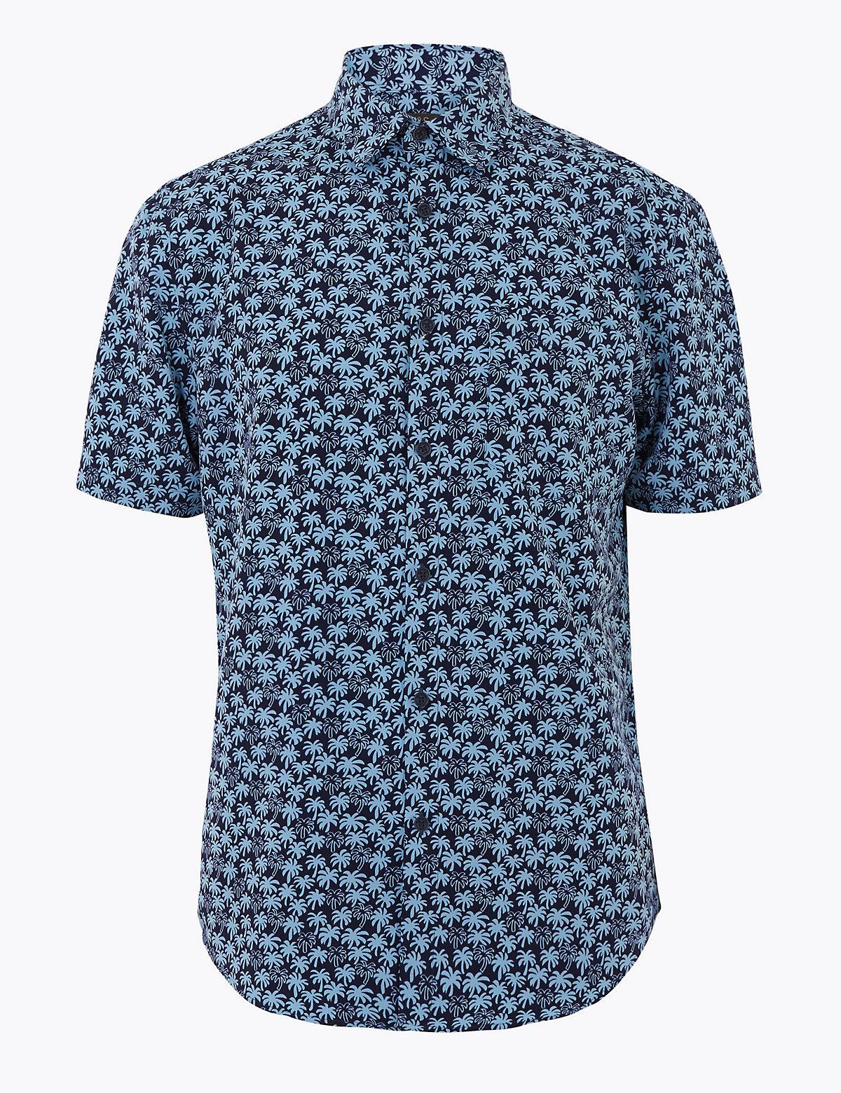 Мужская рубашка с сплошным принтом
