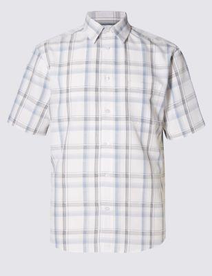 Мягкая рубашка с коротким рукавом Easy Care с добавлением модала