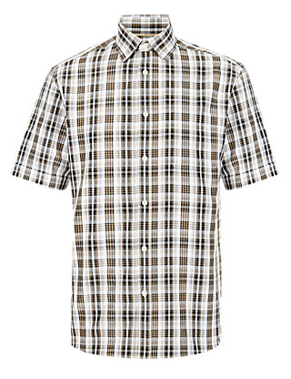 Easy Care Layer Checked Shirt with Modal Clothing