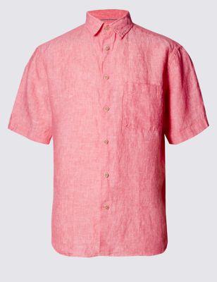 Рубашка Easy to Iron c коротким рукавом из чистого льна