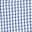 Pure Cotton Checked Shirt with Pocket, BLUE, swatch