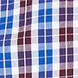 Pure Cotton Checked Shirt with Pocket, BURGUNDY, swatch