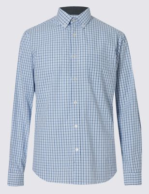 Рубашка из чистого хлопка в контрастную клетку грид