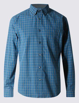 Рубашка из чистого хлопка в клетку тартан