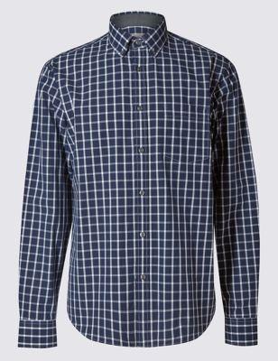 Рубашка из чистого хлопка в оконную клетку