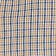 Soft Touch Pure Cotton Checked Shirt, AMBER MIX, swatch