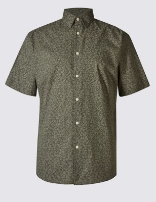 Рубашка из чистого хлопка с причудливыми узорами
