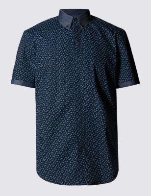 Слегка приталенная рубашка с абстрактным принтом