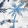 Pure Cotton Palm Tree Print Shirt, BLUE, swatch