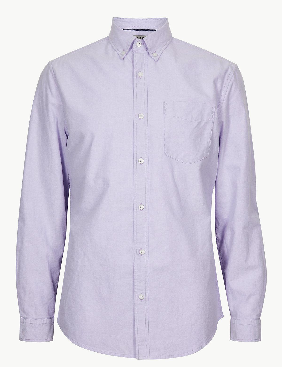 Рубашка Oxford с длинным рукавом и карманом