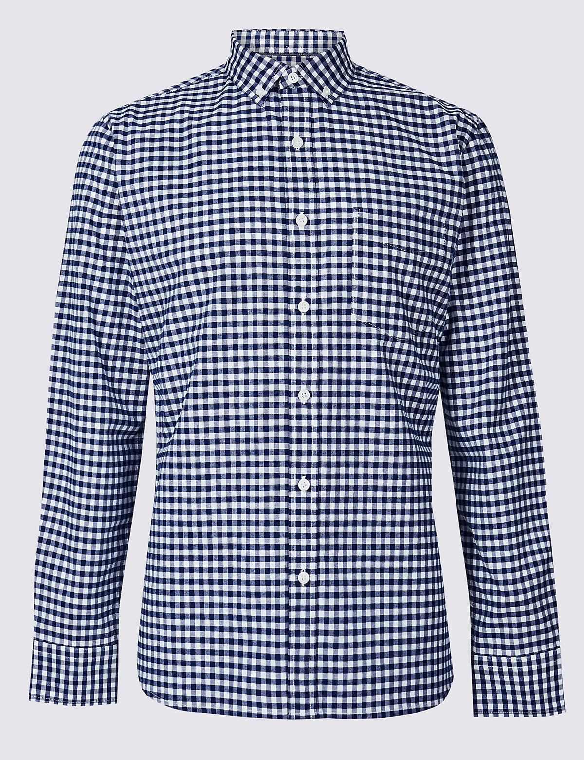 Рубашка узкого кроя из 100% хлопка, в клетку