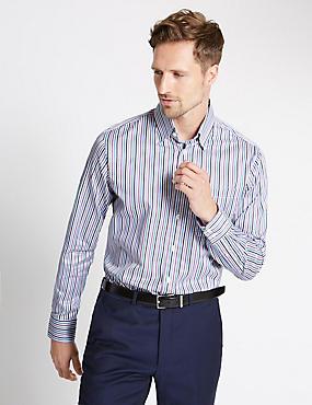 Pure Cotton Stripe Shirt, MULTI, catlanding
