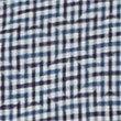 Italian Fabric Pure Cotton Maze Checked Shirt, INDIGO, swatch