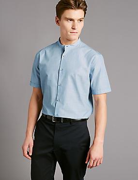 Schmal geschnittenes Hemd aus reiner Baumwolle, PASTELLBLAU, catlanding