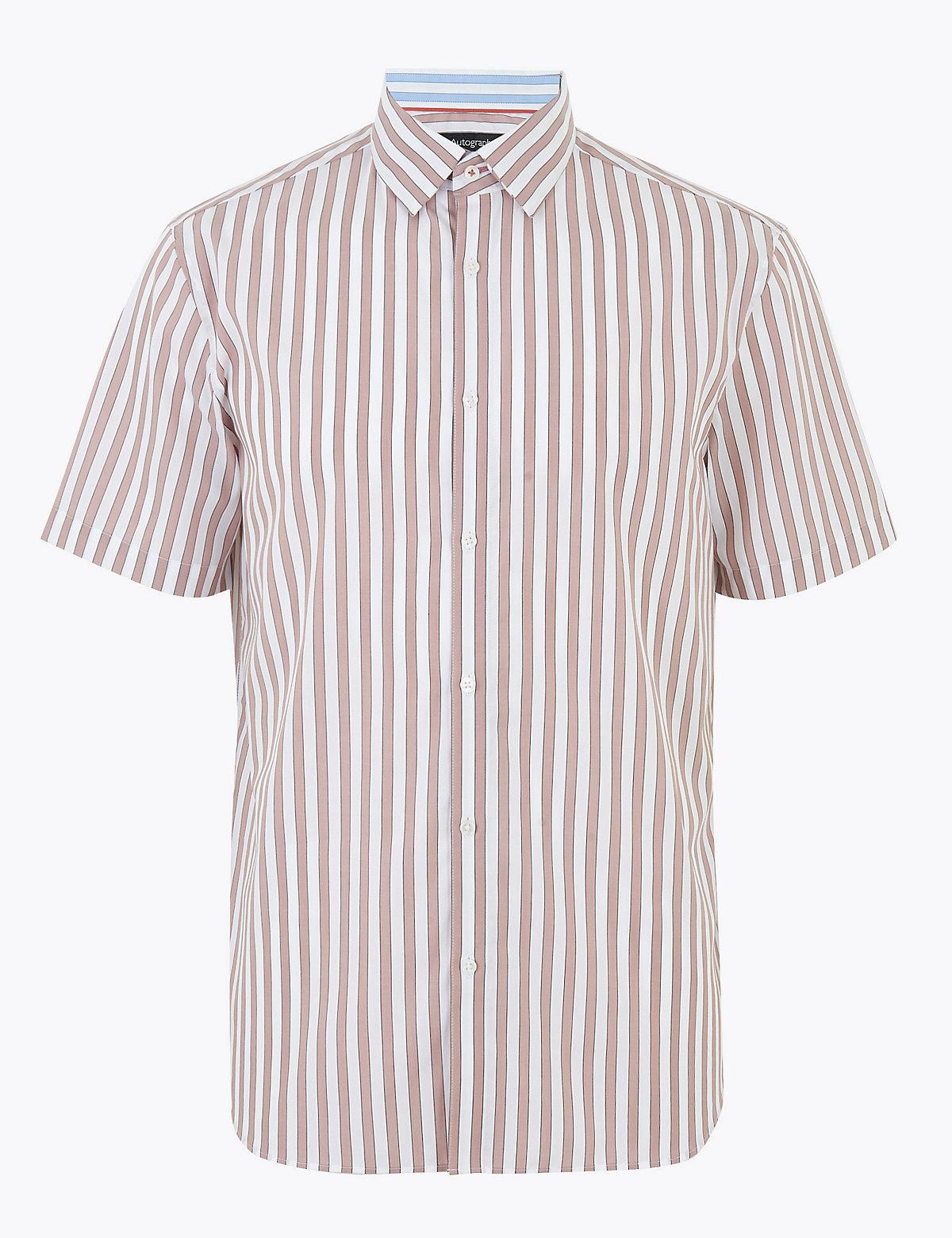 Рубашка в полоску из чистого  хлопка