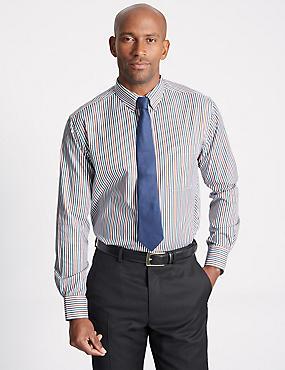 Luxury Pure Cotton Striped Shirt, MULTI, catlanding