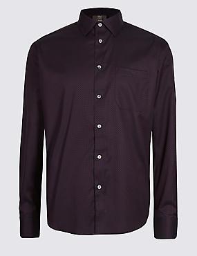 Luxury Pure Cotton Textured Shirt , MULBERRY MIX, catlanding