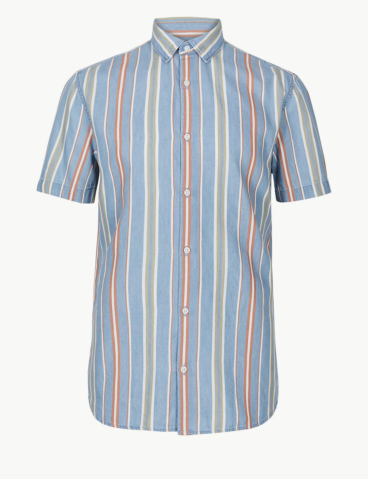 Рубашка с коротким рукавом и классической горловиной