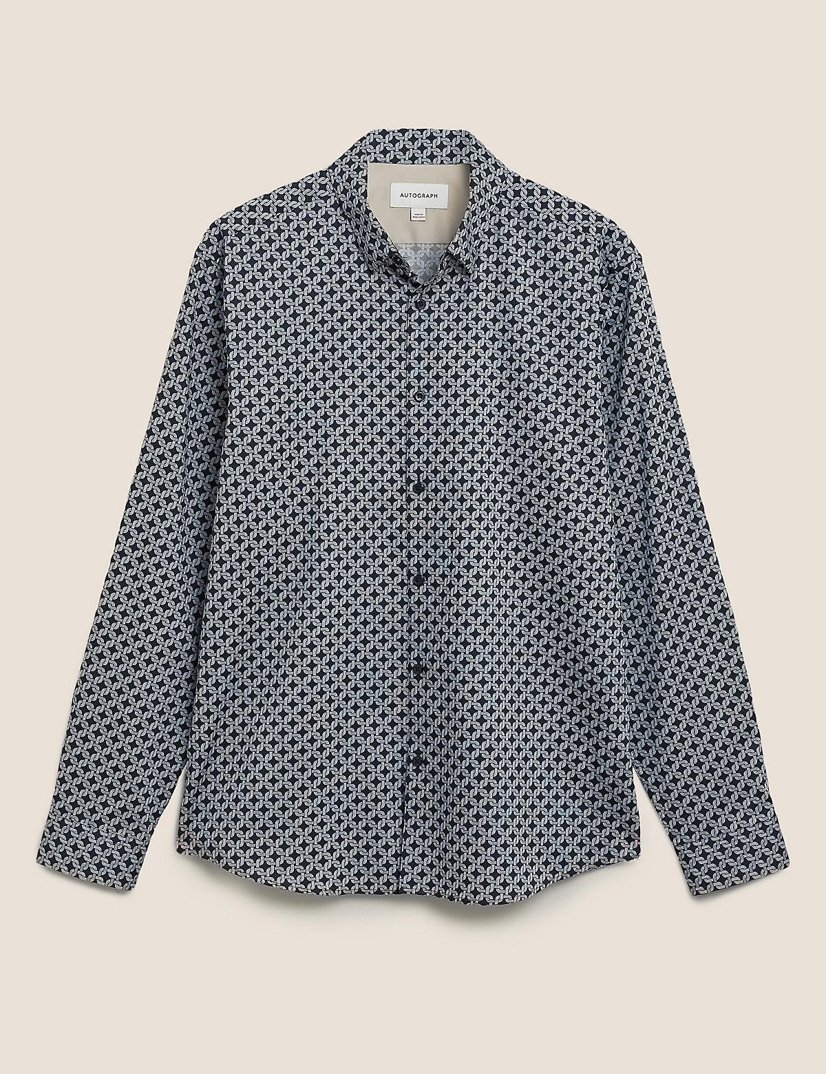 Рубашка с принтом из хлопка и лиоцелла