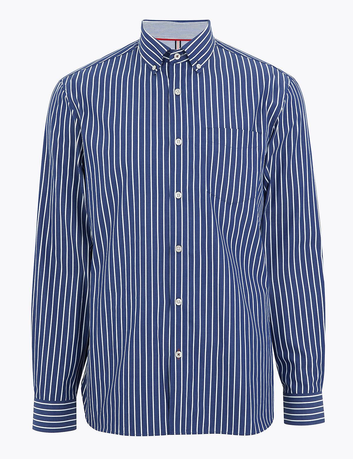 Рубашка в полоску из 100%-го чистого хлопка