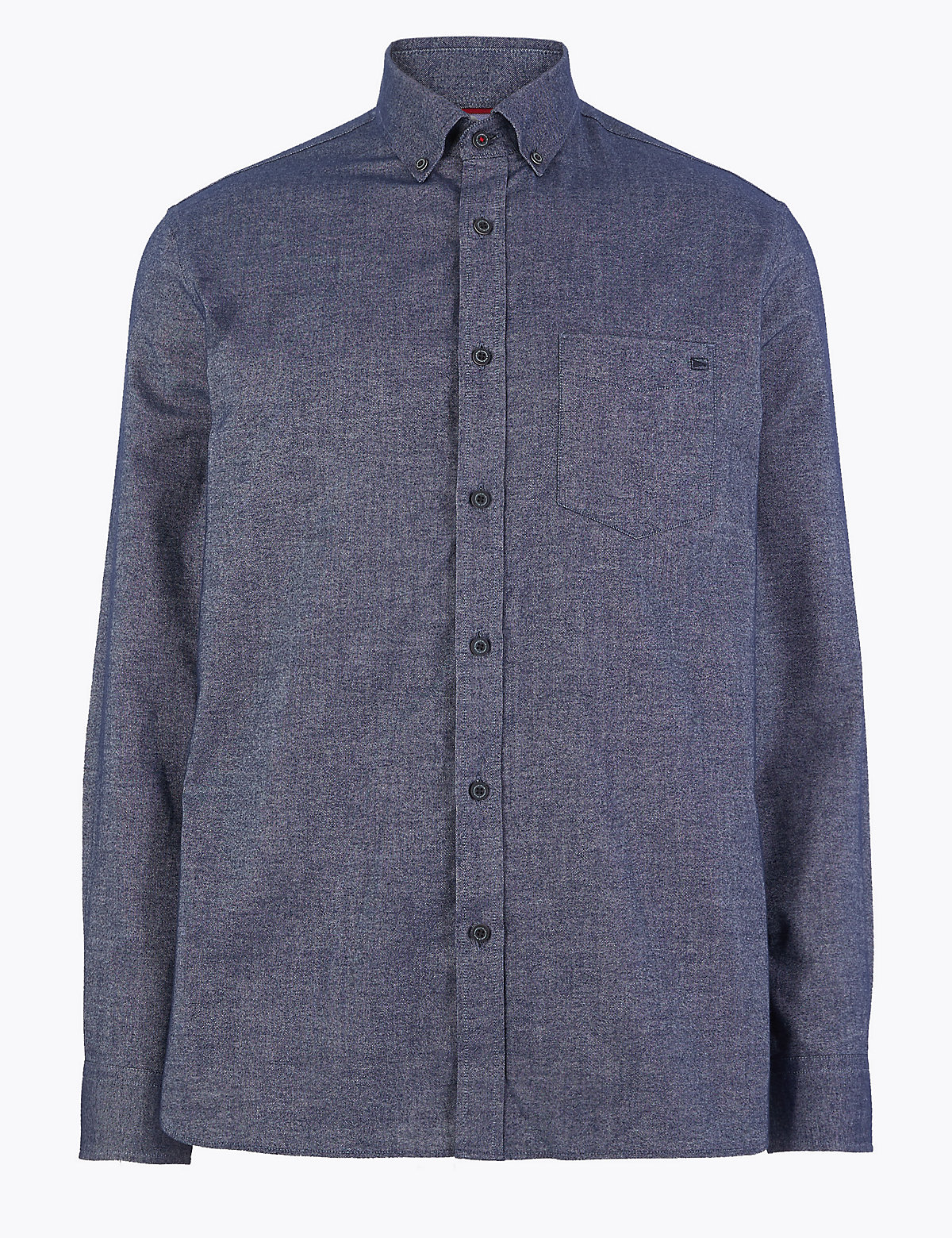 Мужская рубашка оксфорд из чистого хлопка