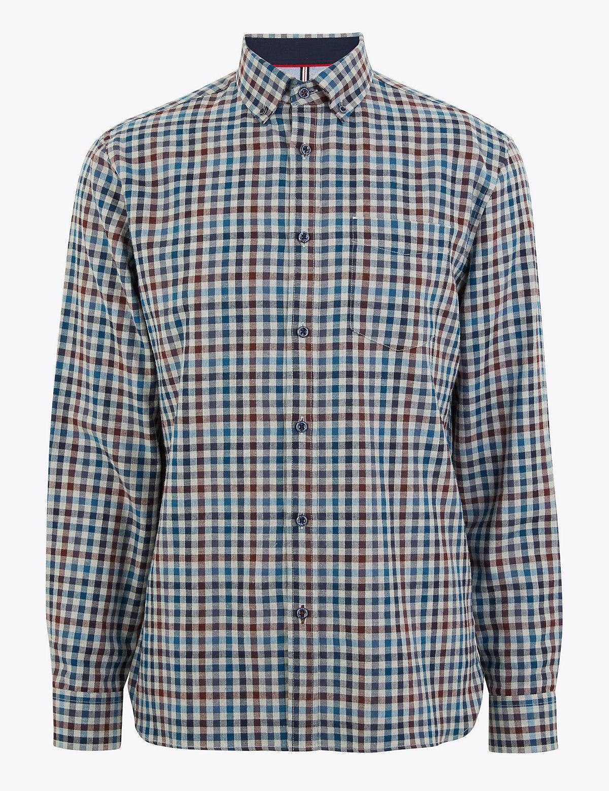 Мужская рубашка в стильную клетку