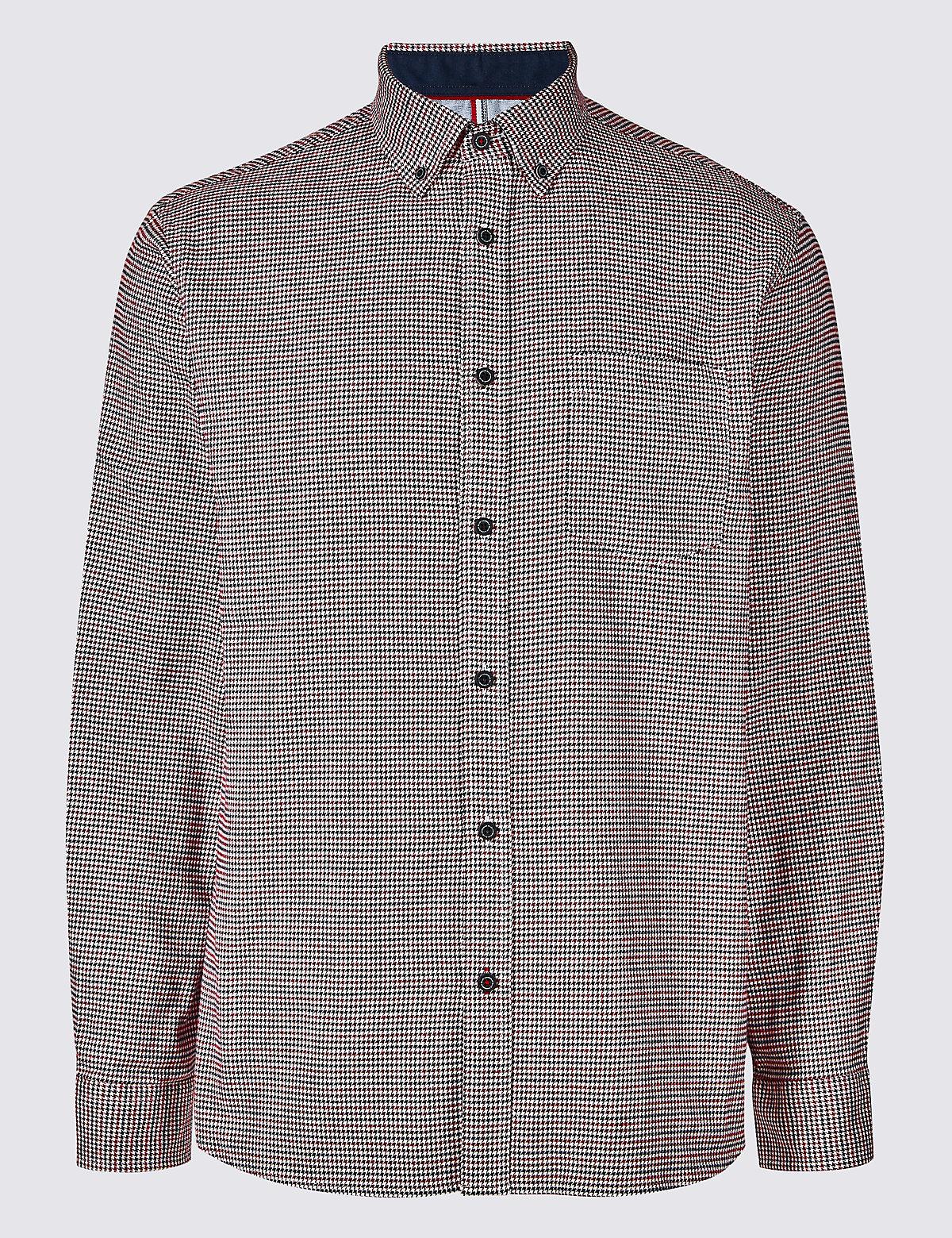 Рубашка текстурированная из 100% хлопка с нагрудным карманом