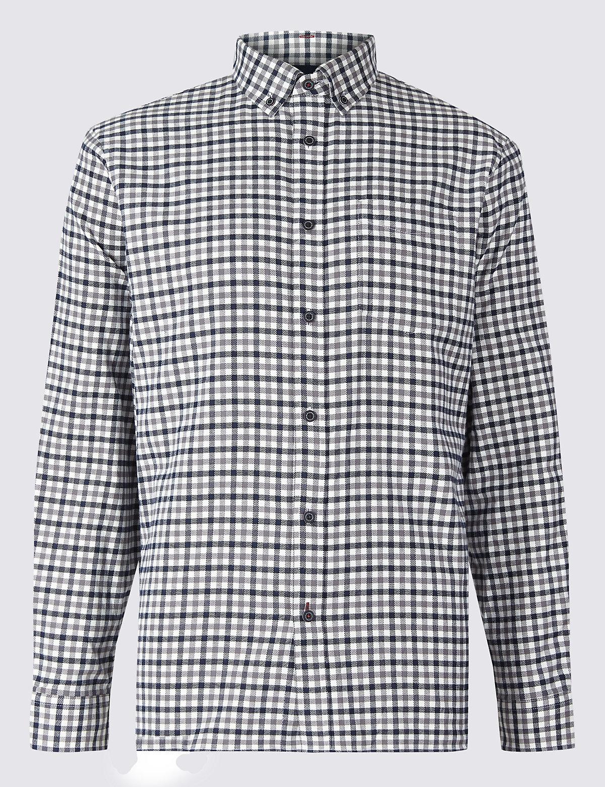Рубашка из 100% хлопка с  нагрудным карманом, в клетку