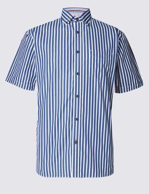 Рубашка из чистого хлопка с карманом Blue Harbour T255695B