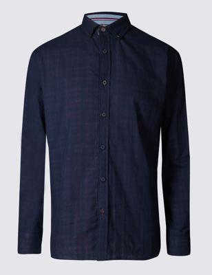 Рубашка из чистого хлопка с воротником на пуговицах Blue Harbour T255698B